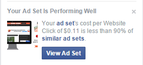 Facebook ad best performance