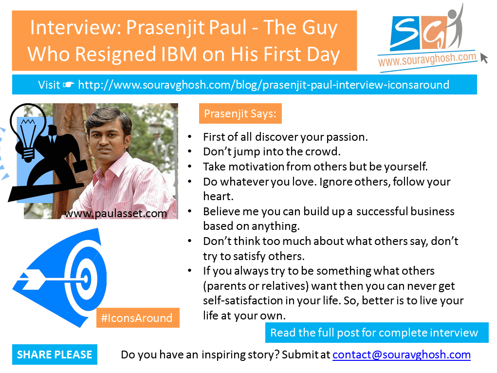 #IconsAround Interview: Prasenjit Paul – The Guy Who Resigned IBM on His First Day