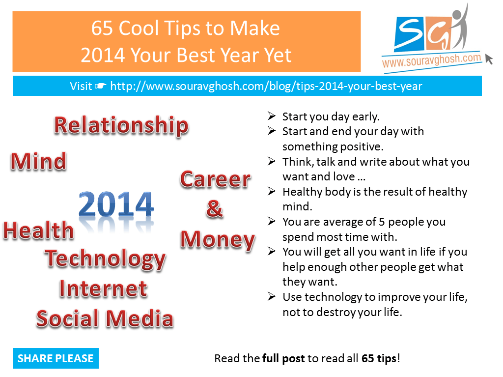 65 Cool Tips to Make 2014 Your Best Year Yet