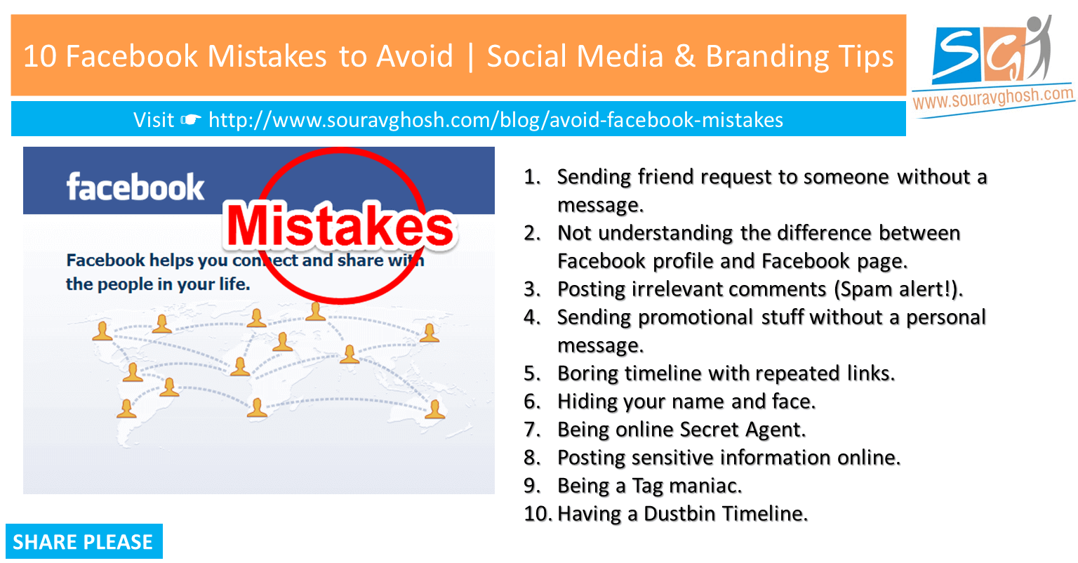 10 Facebook Mistakes to Avoid