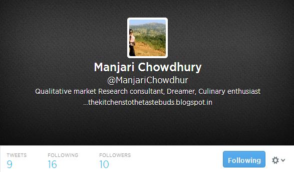 Manjari Chowdhury ManjariChowdhur on Twitter