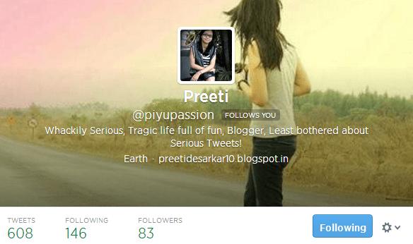 Preeti piyupassion on Twitter