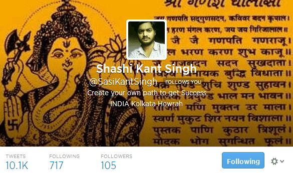 Shashi Kant Singh SasiKantSingh on Twitter