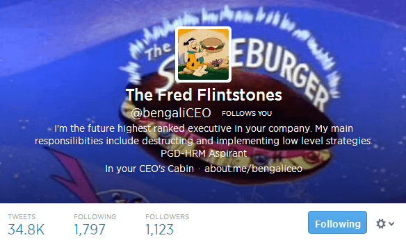 The Fred Flintstones bengaliCEO on Twitter