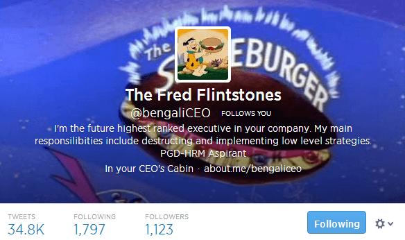 The Fred Flintstones bengaliCEO on Twitter