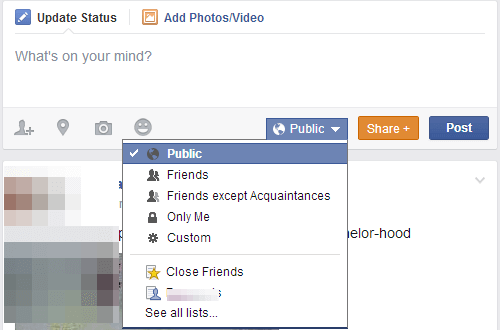 Facebook update privacy settings