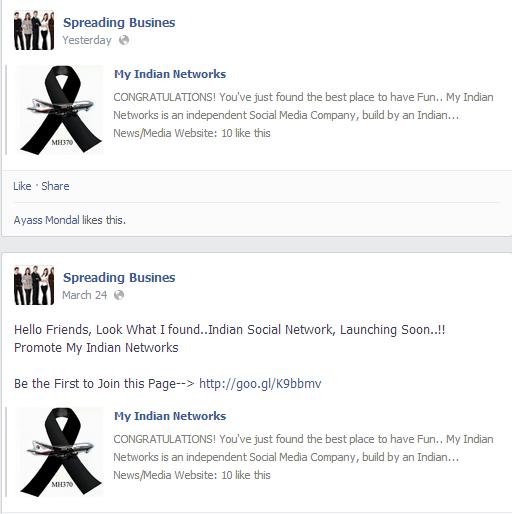 Spamming facebook timeline