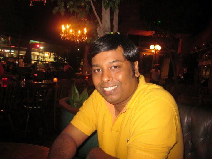 Saptarshi Roy Chaudhury at a Restaurant in Los Angeles