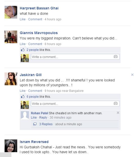 Gurbaksh Chahal girlfriend incident Facebook reaction