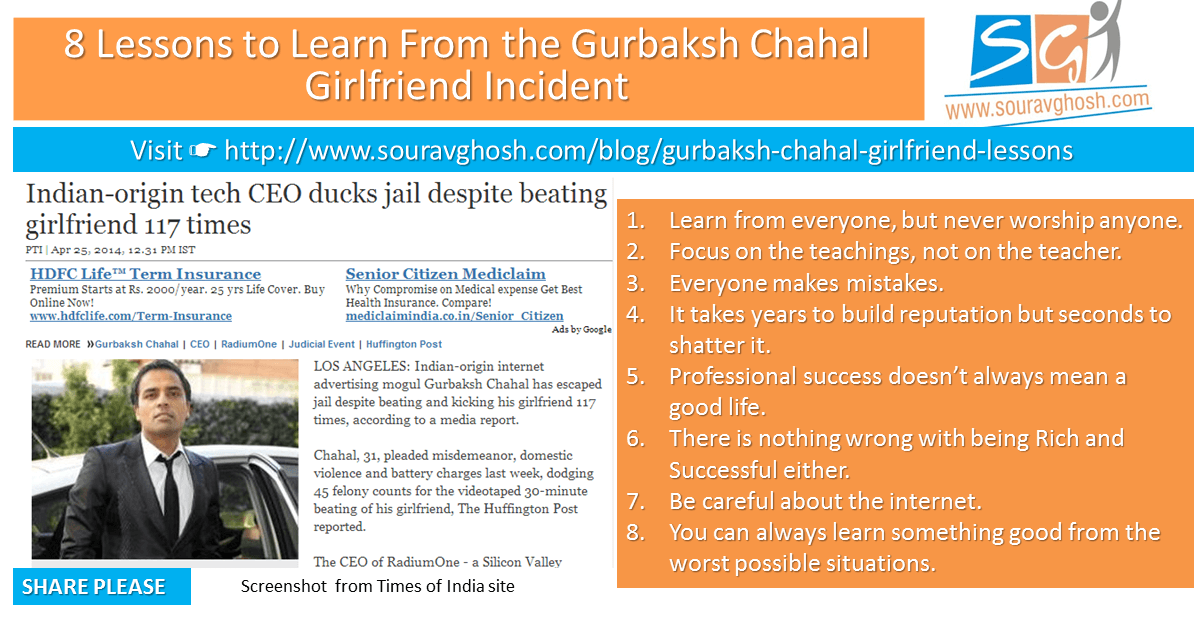 8 Lessons to Learn From the Gurbaksh Chahal Girlfriend Incident