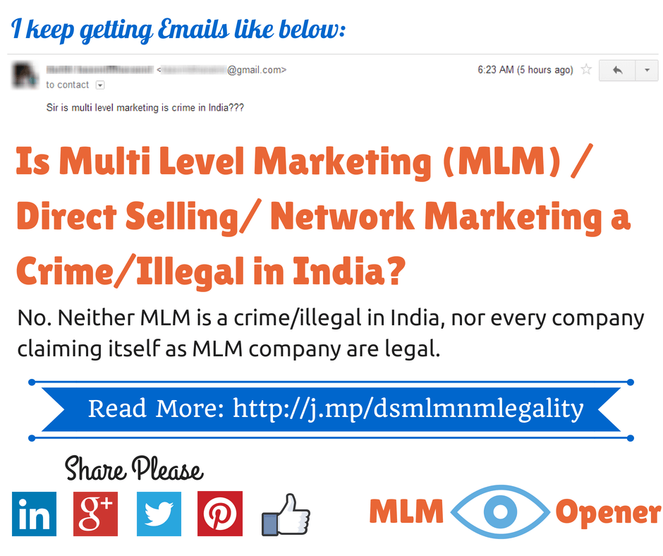 Is MLM Crime or Illegal in India