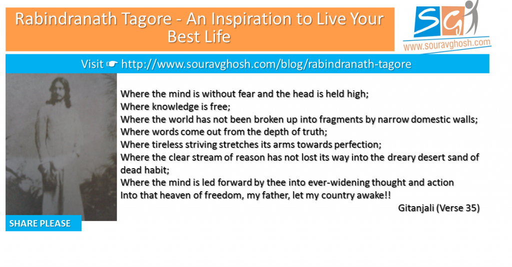 Rabindranath Tagore – An Inspiration to Live Your Best Life