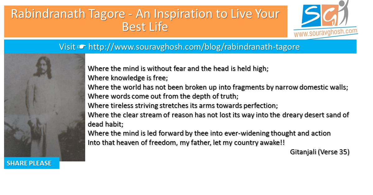 Rabindranath Tagore - An inspiration to Live Your Best Life
