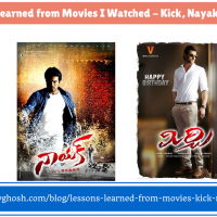 Lessons Learned from Movies I watched - Kick, Nayak and Mirchi