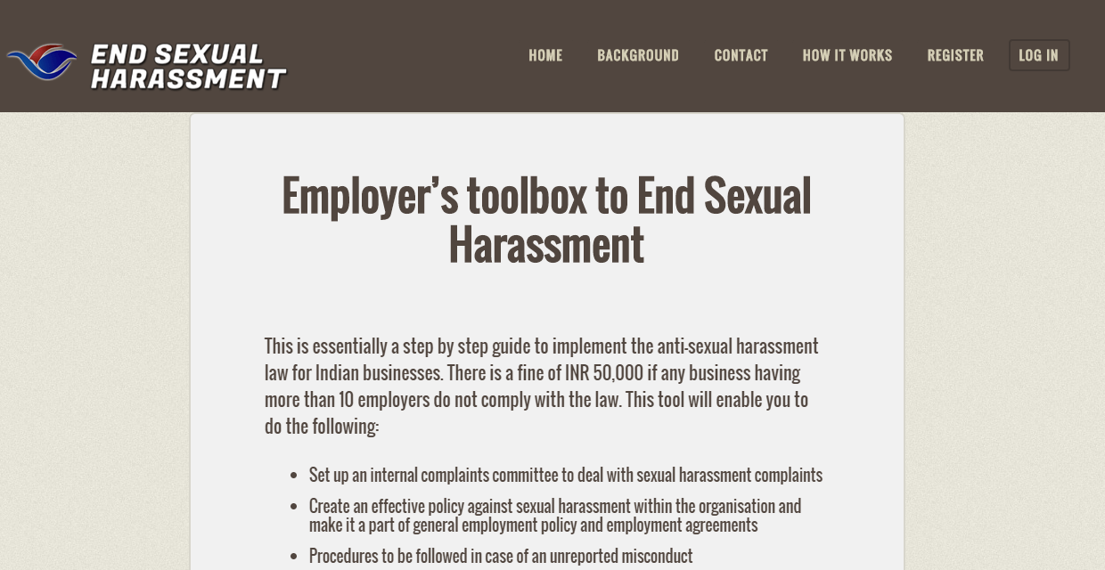 Employer's toolbox to end Sexual Harassment