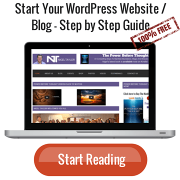 Start Your WordPress Website / Blog - Step by Step Guide