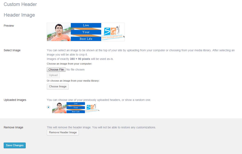 Wordpress genesis custom header
