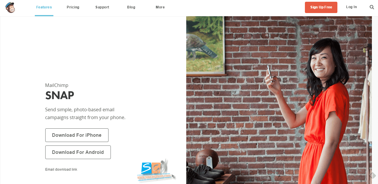 Mailchimp Snap Official Launch Page