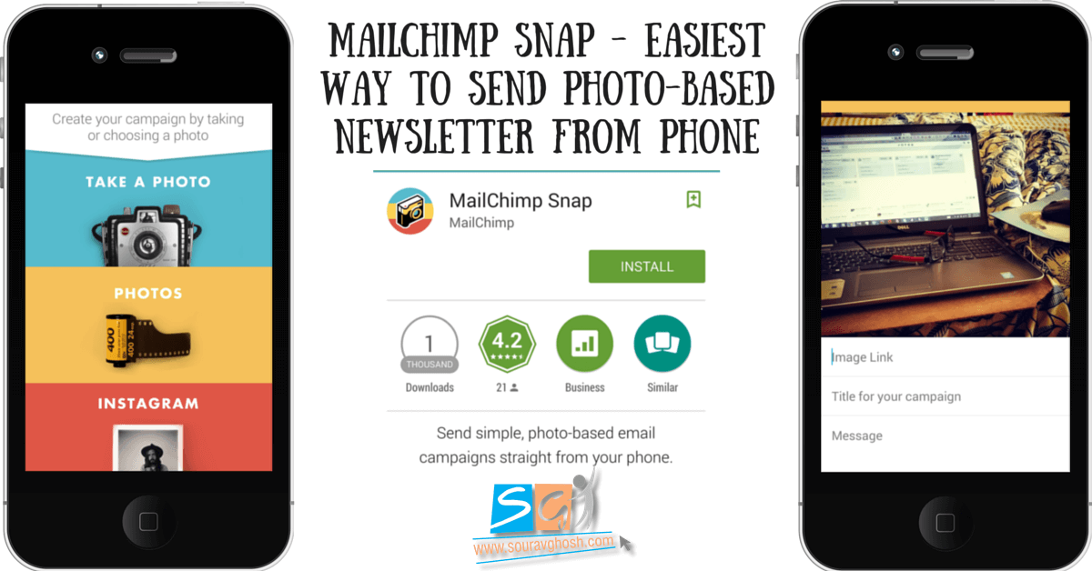 mailchimp snap send photo based newsletter from phone. Black Bedroom Furniture Sets. Home Design Ideas