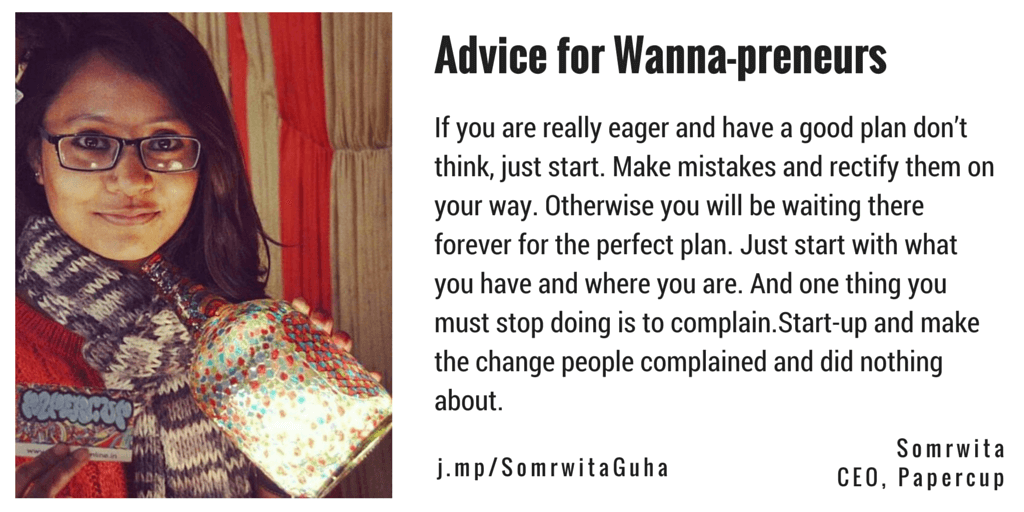 Somrwita Guha Papercup IconsAround Advice for Entrepreneurs