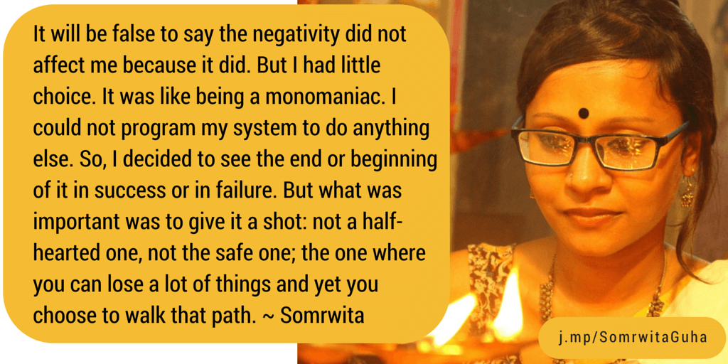 Somrwita Guha Papercup IconsAround Quote Dont Give Up