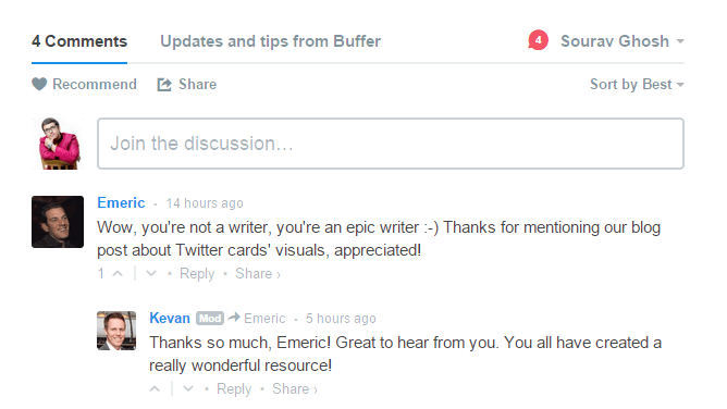 Disqus comment system example