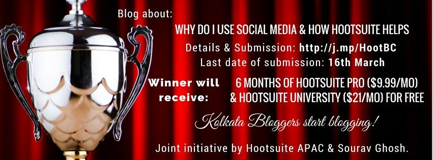 hootsuite sourav ghosh kolkata bloggers blogging contest