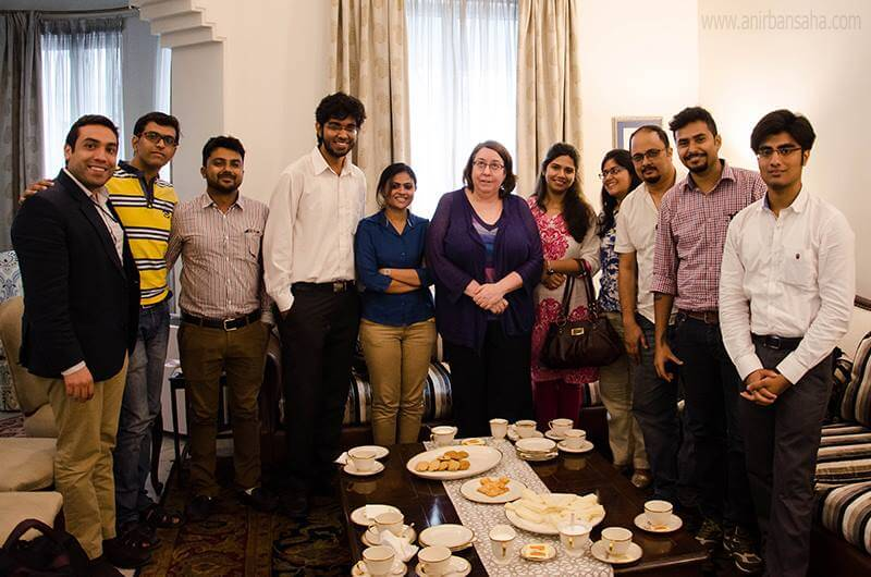 Tea with US Consult General Ms Helen Lafave