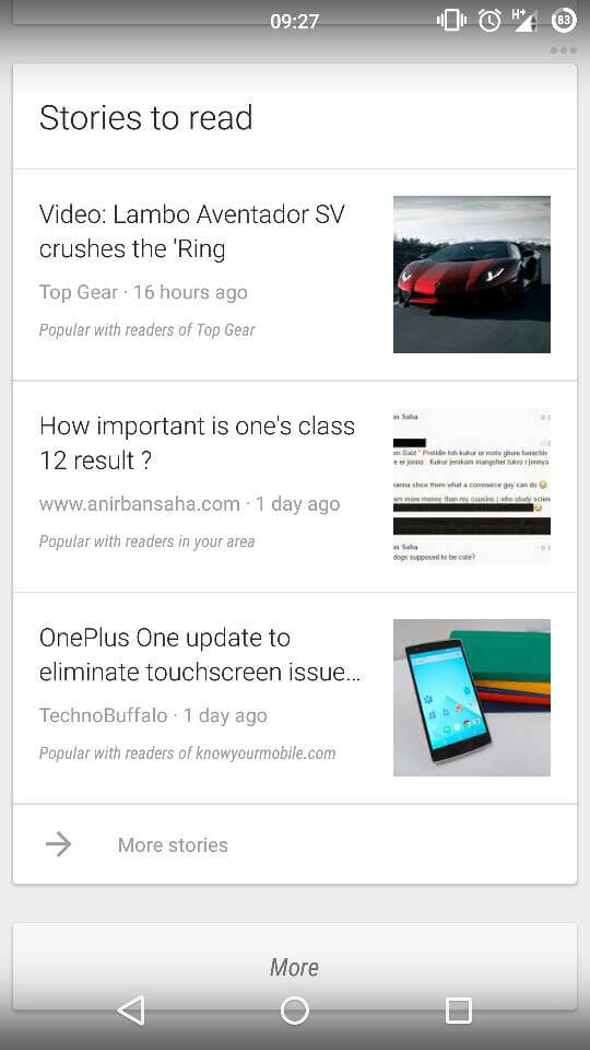 anirban saha blog post appearing on google now