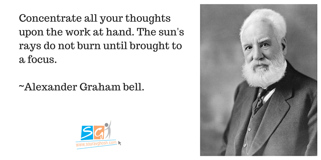 Alexandar Graham Bell Quote on Focus