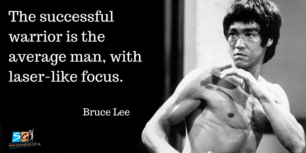 Bruce Lee Quote on Focus