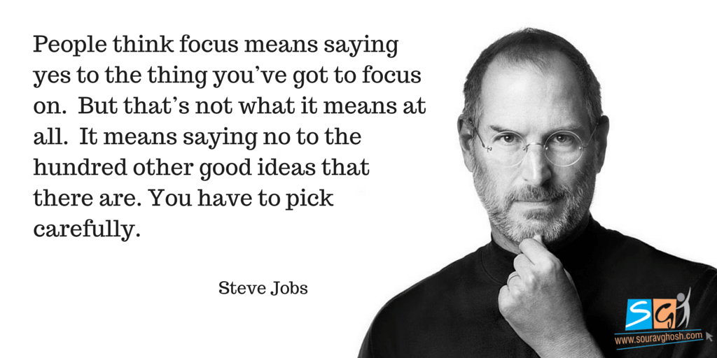 Steve Jobs Quote on Focus