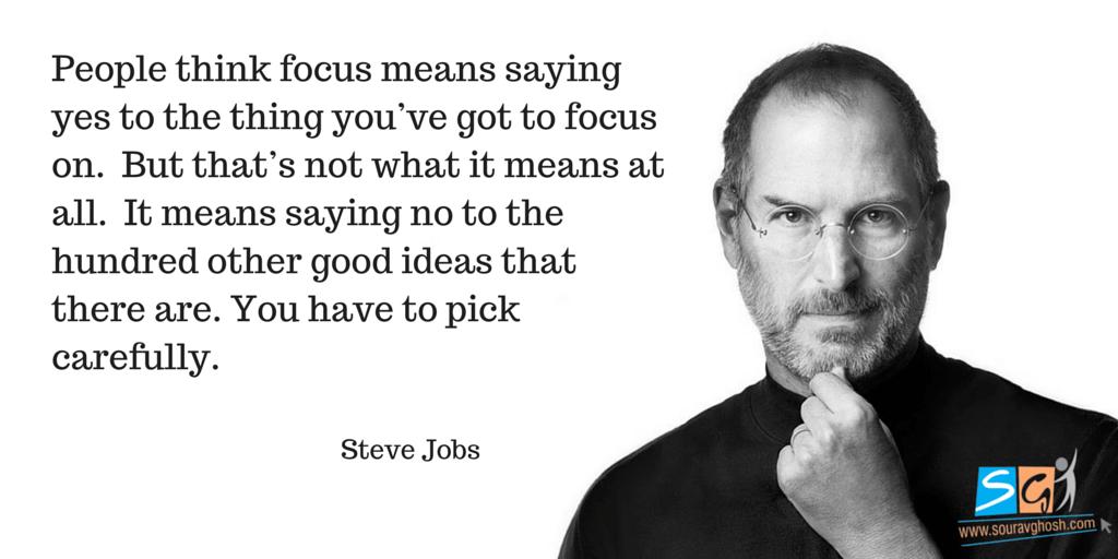Steve Jobs Quote on Focus