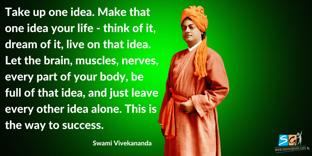 Swami Vivekananda Quote on Focus