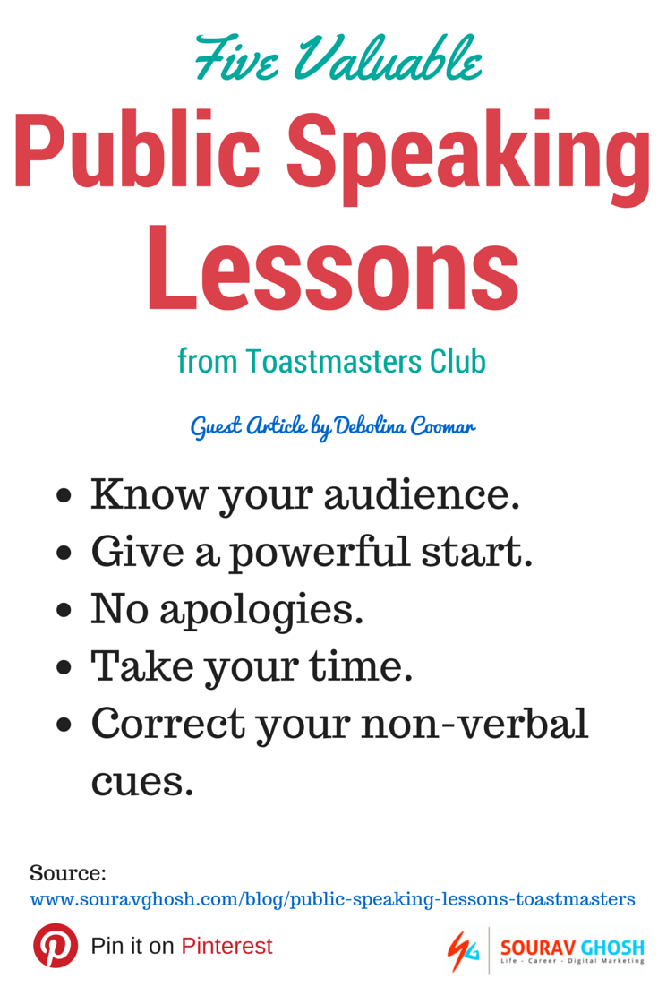 Public speaking lessons post summary