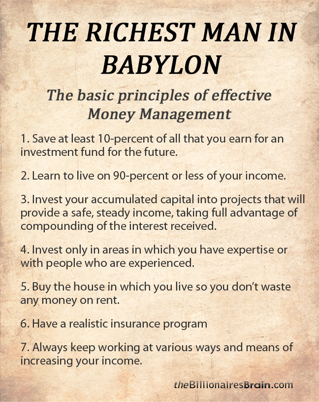 Basic Principles of Effective Money Management from Richest Man in Babylon