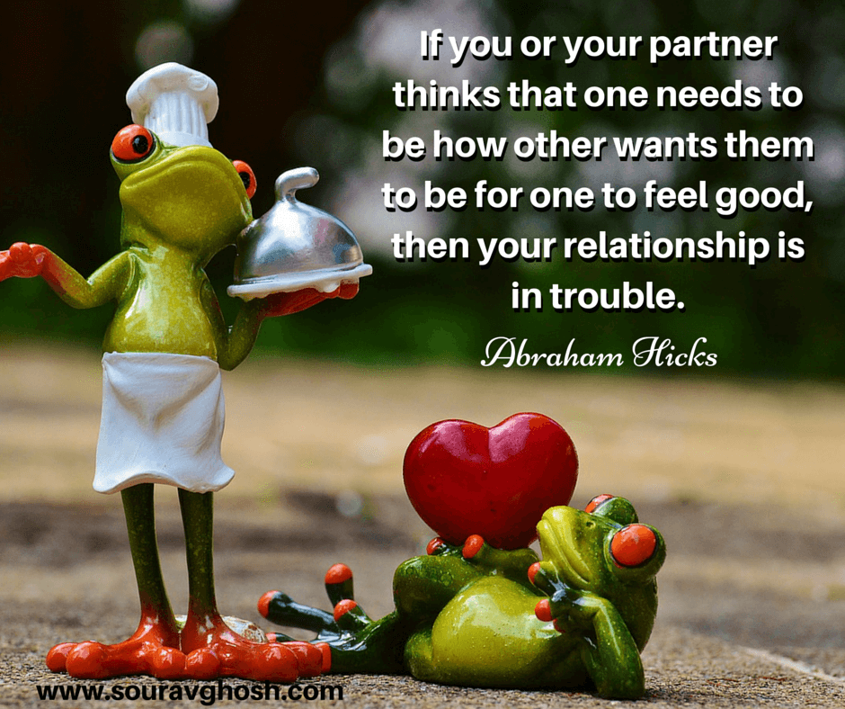 Relationship without compromise quote : Be yourself