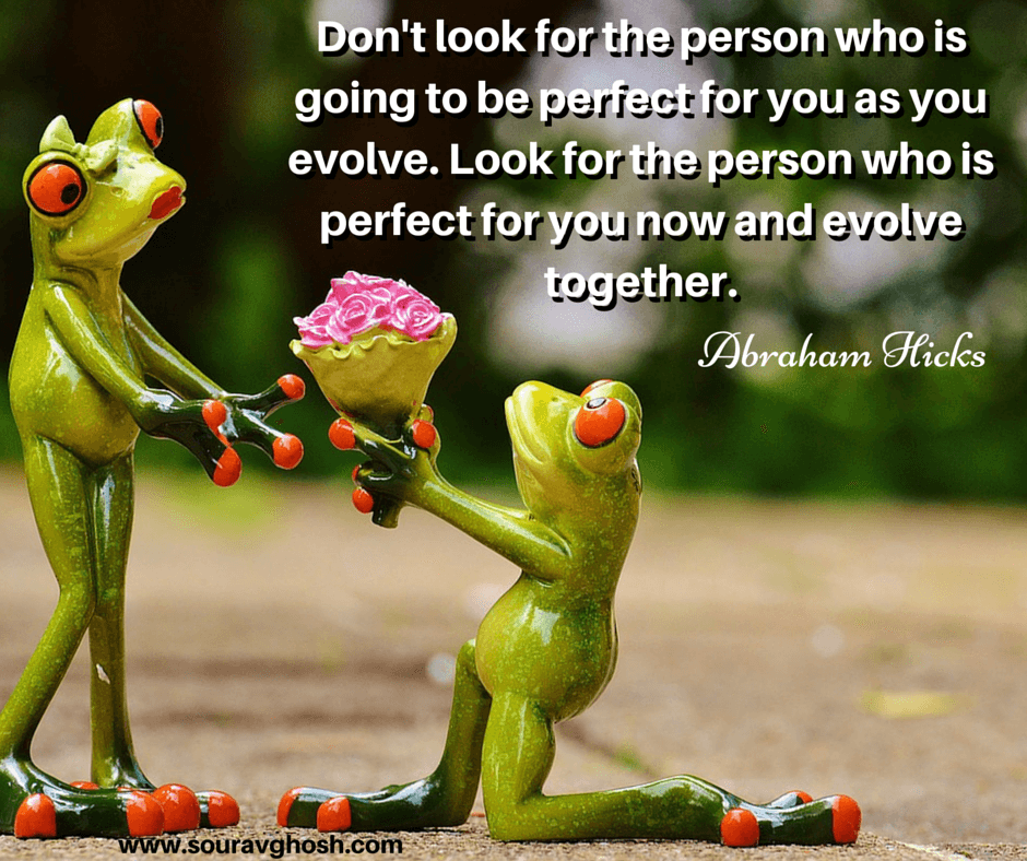 Relationship without compromise quote: Evolve together