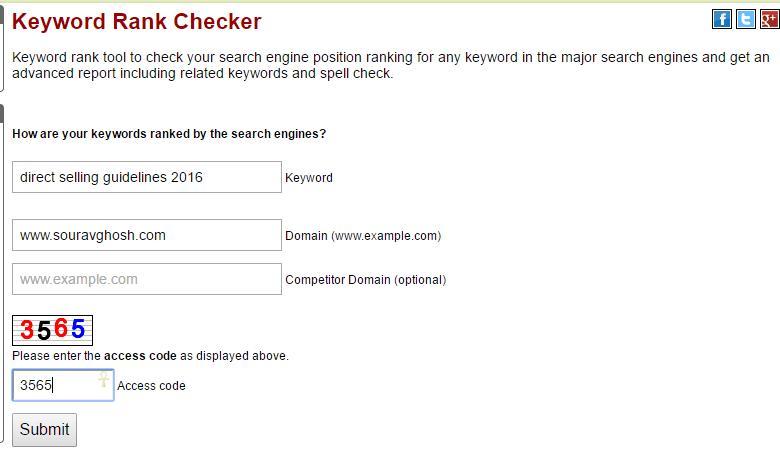 Keyword Rank Checker Tool