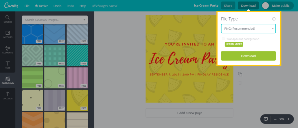 how to add pictures on canva app
